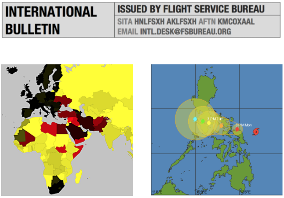 Monday Briefing: New Overflight Map, Typhoon Melor affecting the Philippines