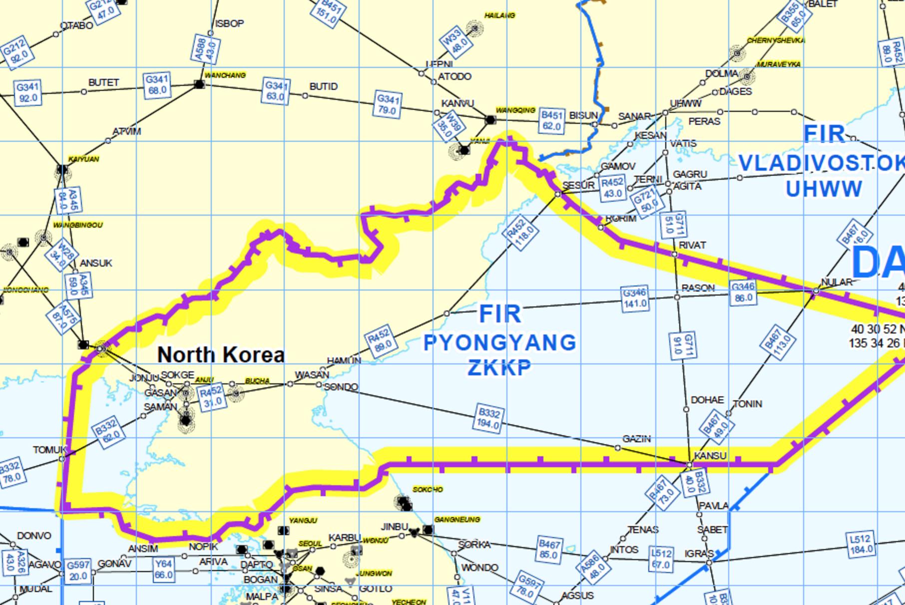 North Korea overflight getting riskier