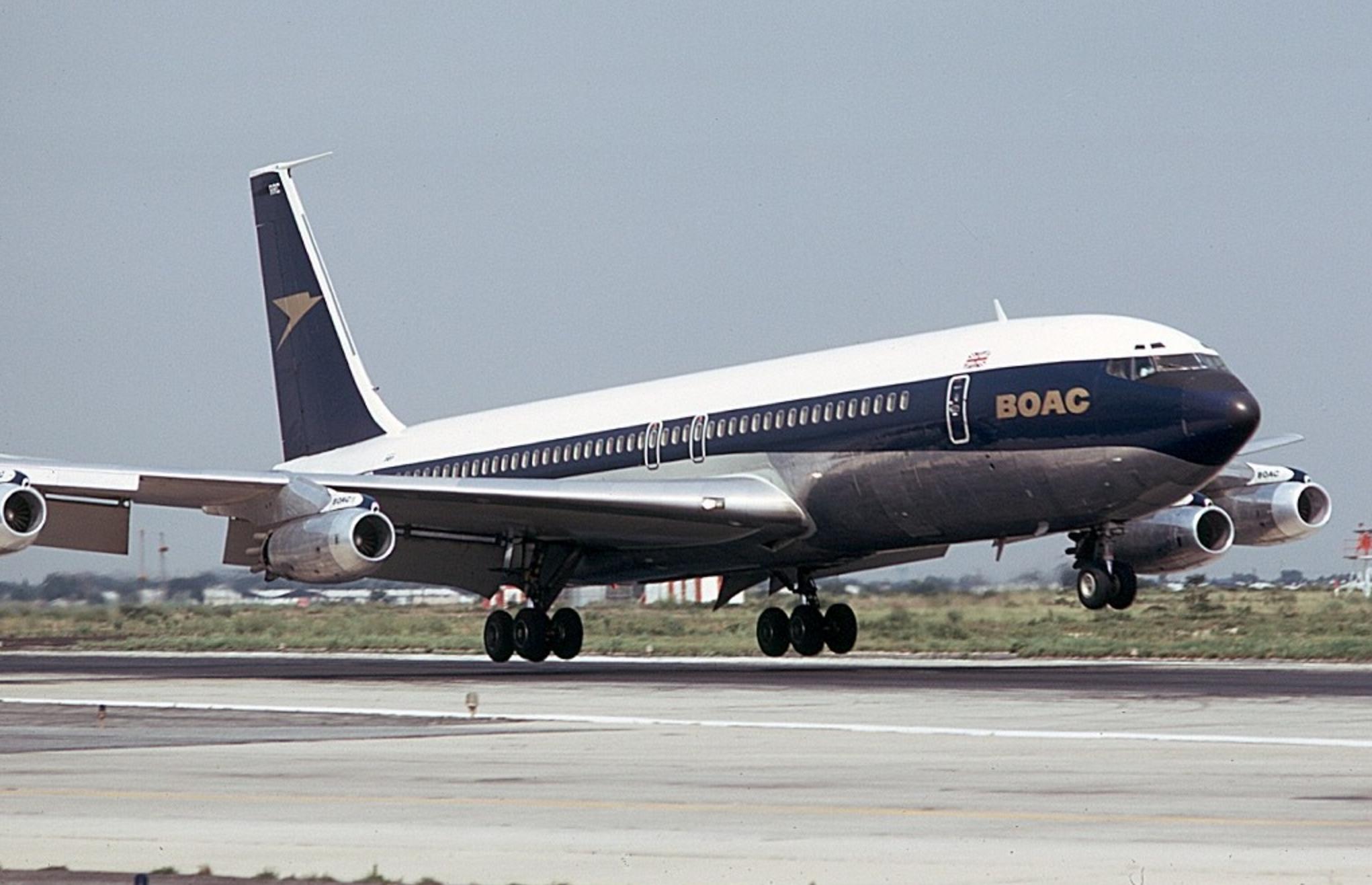 Ferry Flight from Seattle: Boeing 707
