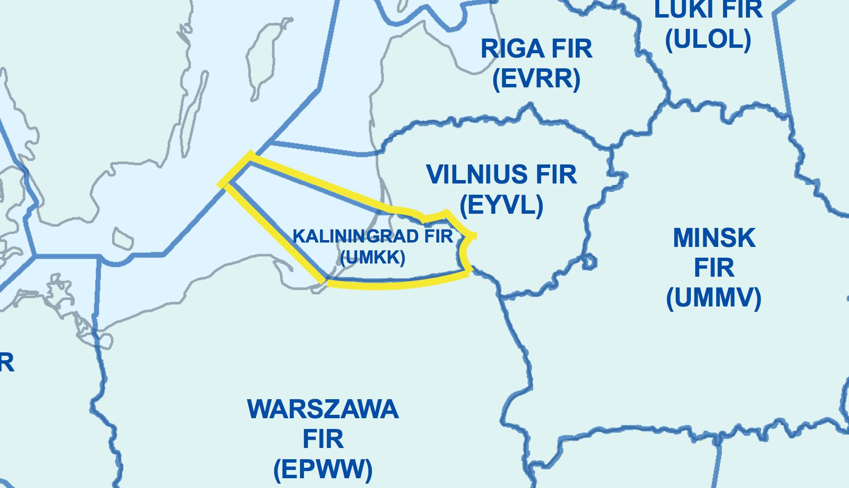 Kaliningrad FIR Map