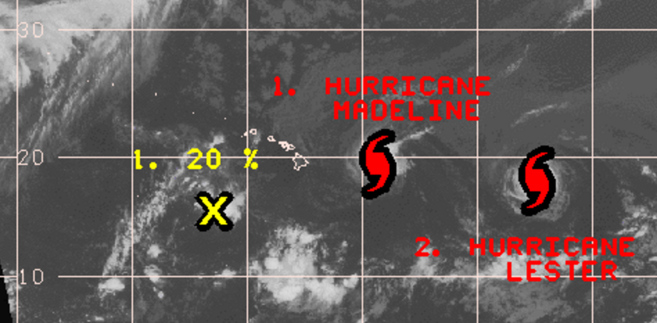 Two hurricanes inbound Hawaii