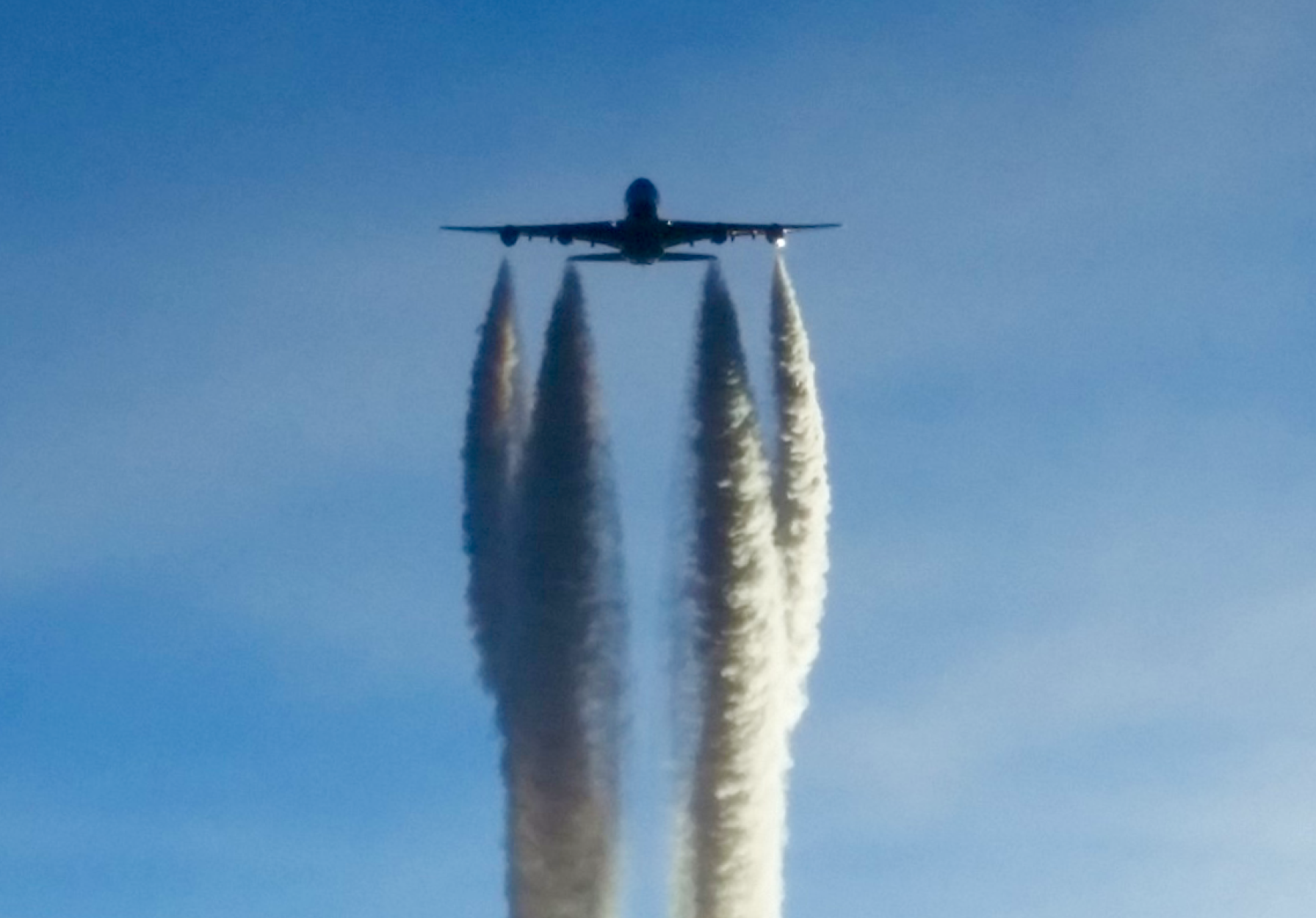 This is what an Airbus 380 looks like when it's coming to get you