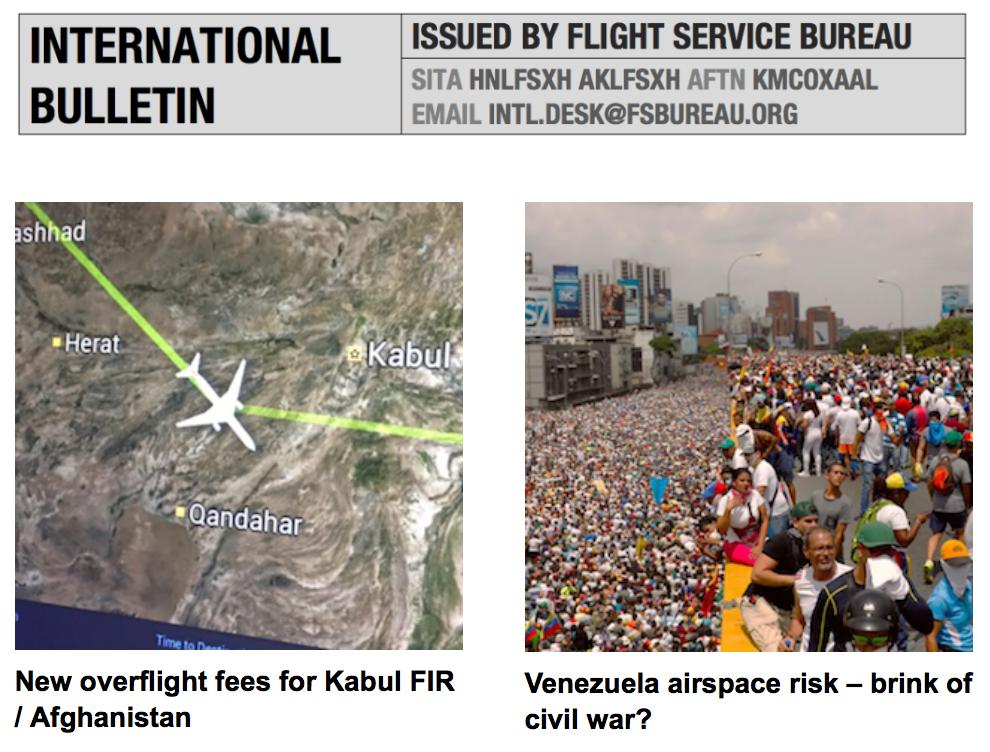 03AUG: New overflight fees Kabul FIR, Venezuela airspace risk – brink of civil war? Weekly Ops Briefing