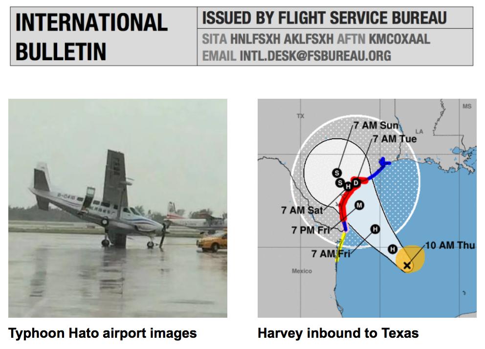 24AUG: Typhoon Hato, Hurricane Harvey – International Ops Bulletin