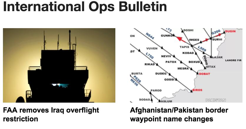 14DEC: Iraq overflights, Afghanistan/Pakistan border changes