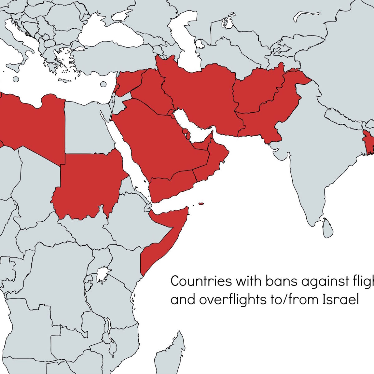 Countries with bans on flights to Israel – International Ops ...