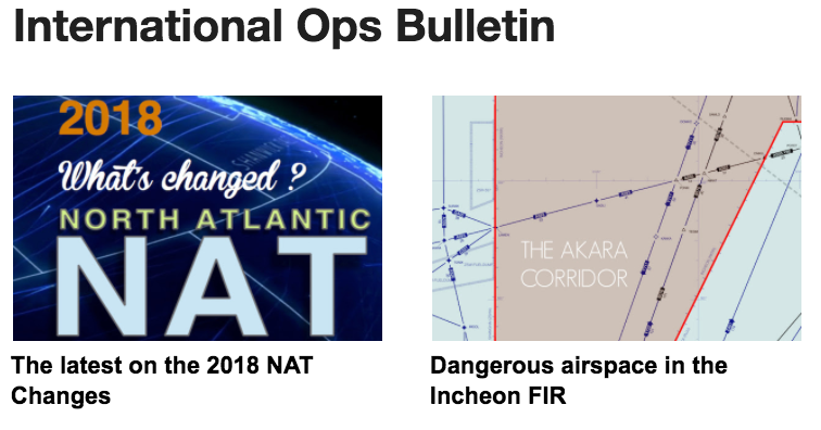02FEB: NAT PBCS, Changes coming, Dangerous airspace in the Icheon FIR, George is back
