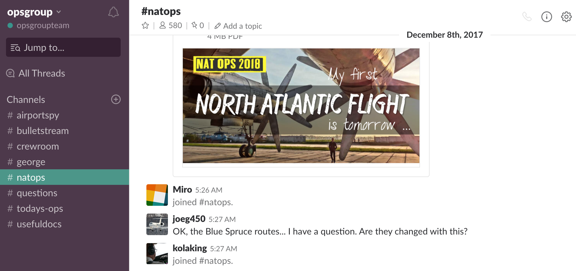 ATC, CAA, Airports, Rulemakers – join our OPSGROUP Slack community
