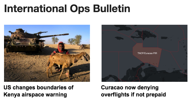 01MAR: Kenya airspace risk, Curacao rejecting overflights