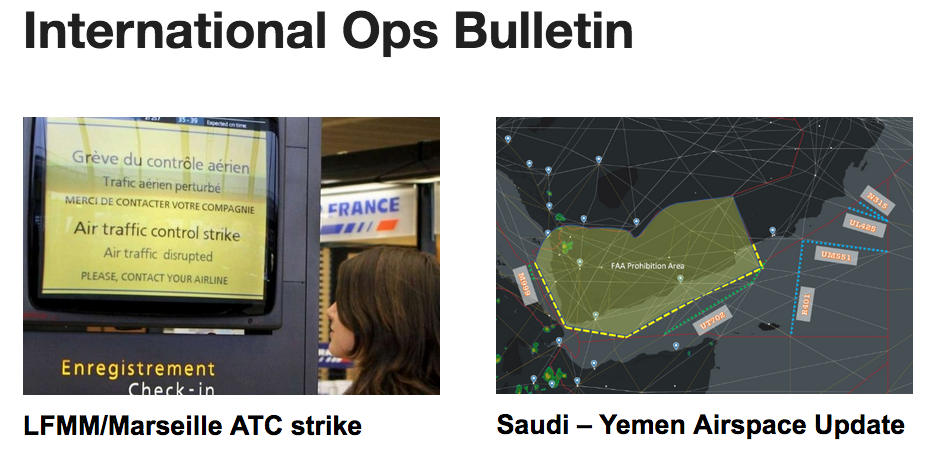 26APR: France ATC strike this weekend, Saudi-Yemen airspace update, New CPDLC messages on the NAT