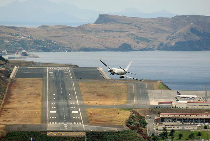 The only airport in the world with a mandatory wind limit