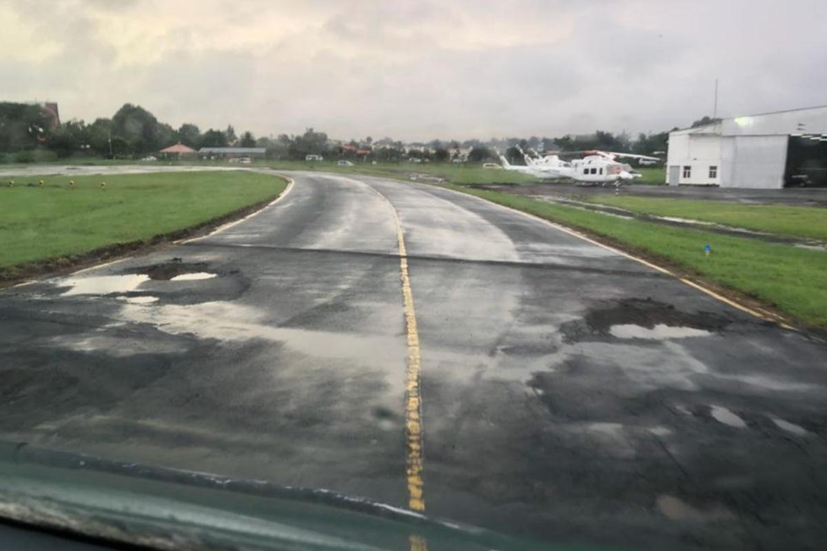 Potholes at HKNW/Wilson Airport, Nairobi