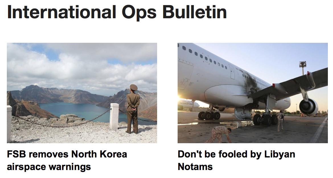 16MAY: North Korea warnings removed, Libya airspace update, Montreal closed to BA/GA ops