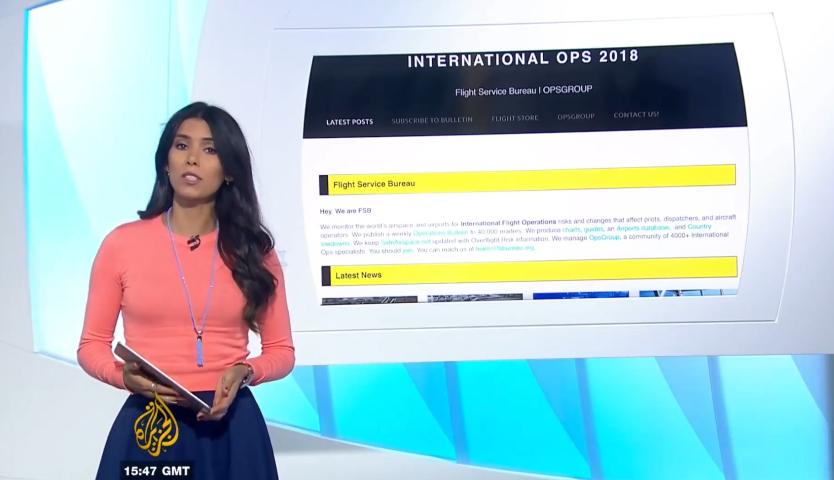 OPSGROUP featured on Al Jazeera