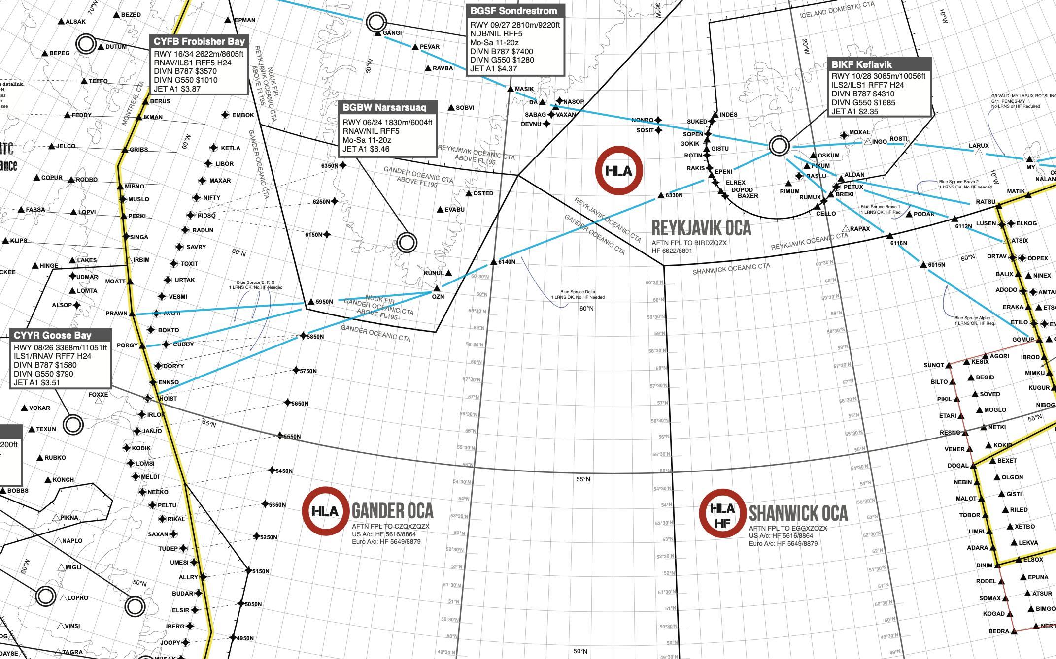 2019 Updated North Atlantic Plotting Chart