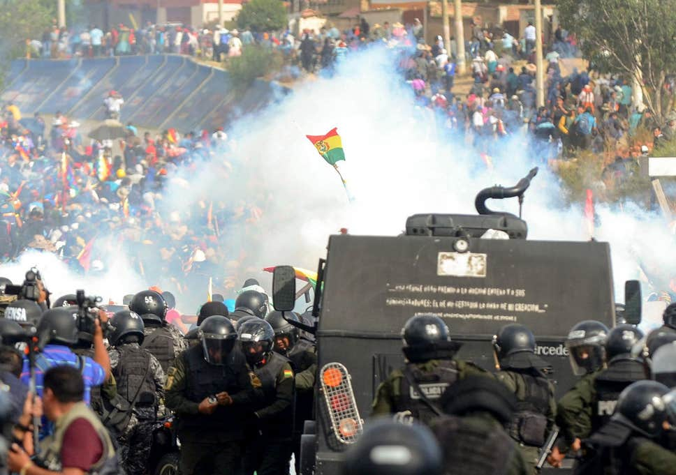 Deteriorating post-election chaos in Bolivia