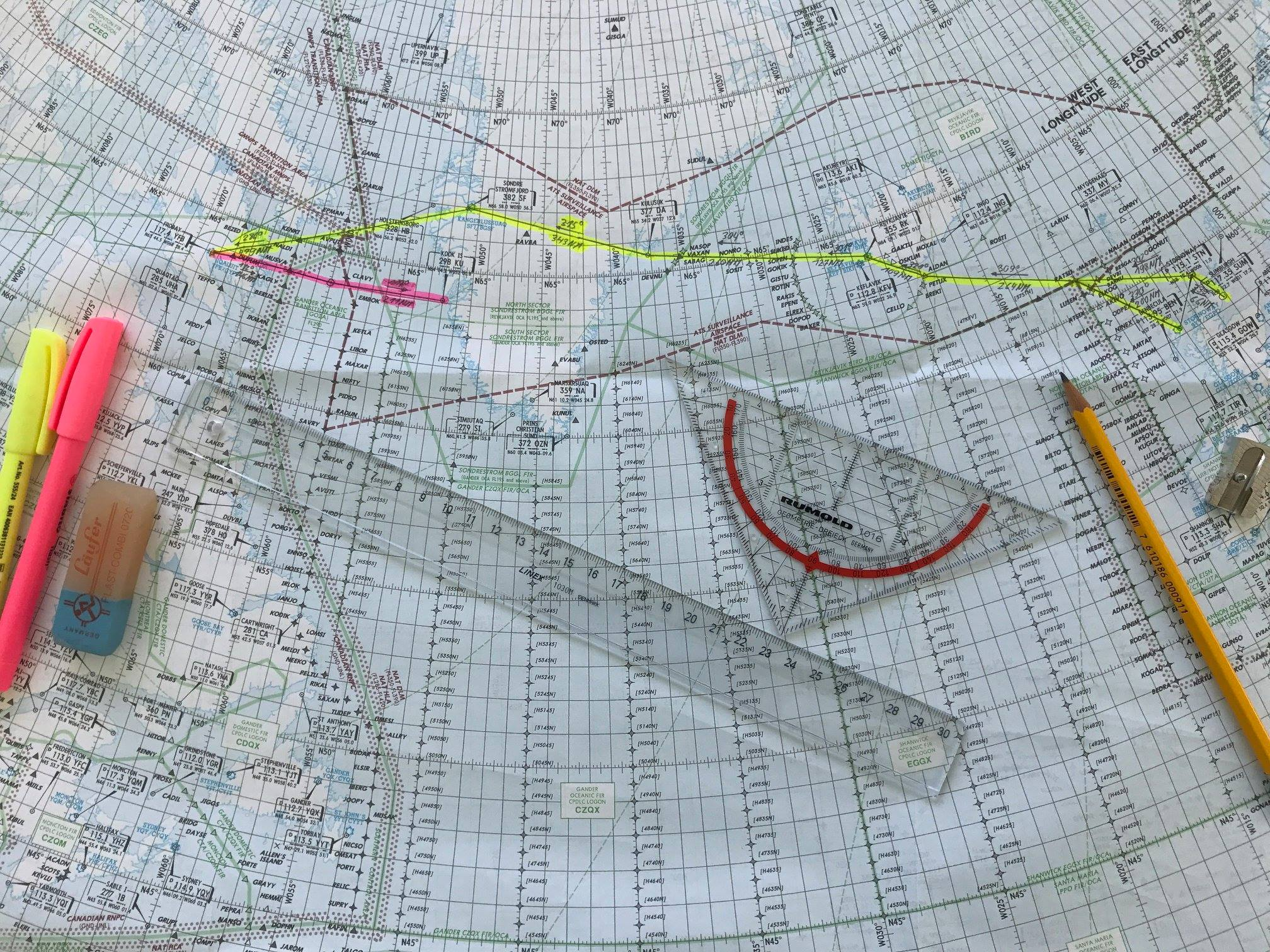 Oceanic Plotting: Classic Navigation meets New Age Tech