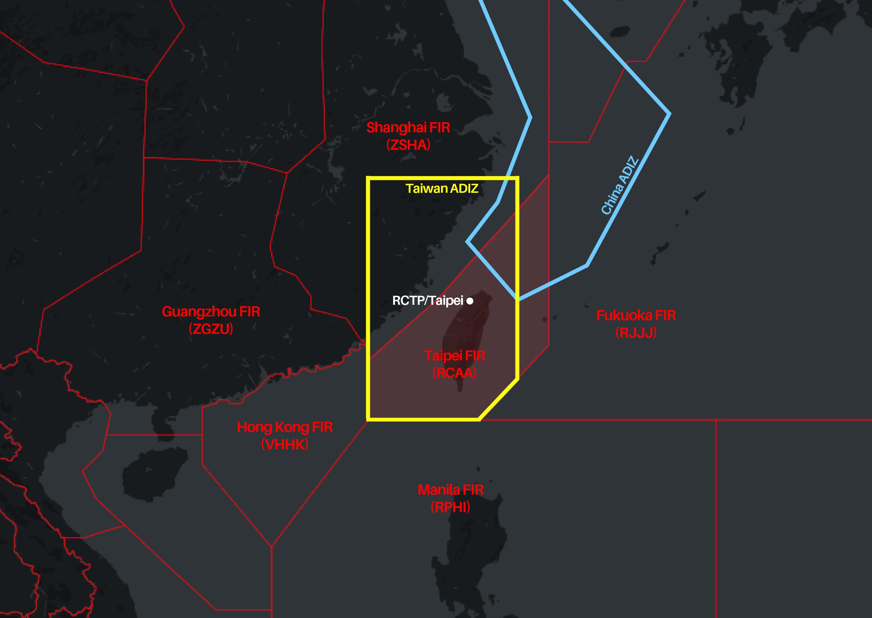 China steps up incursions into Taiwan's ADIZ